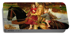 A Dream Of The Past Portable Battery Charger by Sir John Everett Millais