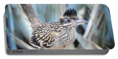 A Juvenile Greater Roadrunner  Portable Battery Charger by Saija  Lehtonen