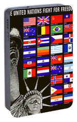 Allied Nations Fight For Freedom Portable Battery Charger by War Is Hell Store