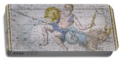 Aquarius And Capricorn Portable Battery Charger by A Jamieson