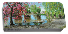 Bakewell Bridge - Derbyshire Portable Battery Charger by Trevor Neal