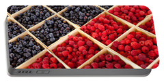 Berries Portable Battery Charger by Lauri Novak
