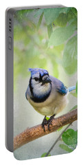 Bluejay In A Tree Portable Battery Charger by Betty LaRue
