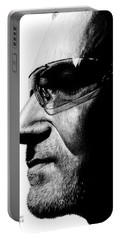 Bono - Half The Man Portable Battery Charger by Kayleigh Semeniuk