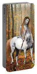 Centaur Series Autumn Walk Portable Battery Charger by Nikki Marie Smith