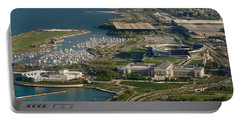 Chicagos Lakefront Museum Campus Portable Battery Charger by Steve Gadomski