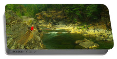 Cliff Over The Yak River Portable Battery Charger by Jeff Swan