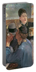 Corner Of A Cafe-concert Portable Battery Charger by Edouard Manet
