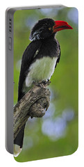 Crowned Hornbill Portable Battery Charger by Tony Beck