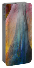 Portable Battery Charger featuring the digital art Dance Through The Light by Richard Laeton