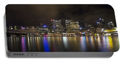 Darling Harbor Sydney Skyline Portable Battery Charger by Douglas Barnard