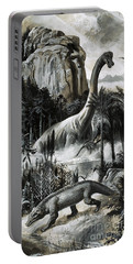 Dinosaurs Portable Battery Charger by Roger Payne