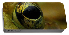 Eye Of Frog Portable Battery Charger by Paul Ward