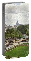 Garden Of The Princess Portable Battery Charger by Claude Monet