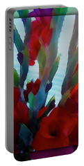 Portable Battery Charger featuring the digital art Glad by Richard Laeton