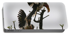 Hornbill Courtship Portable Battery Charger by Bruce J Robinson