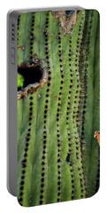 Lovebirds And The Saguaro  Portable Battery Charger by Saija  Lehtonen