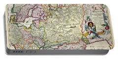 Map Of Asia Minor Portable Battery Charger by Nicolaes Visscher