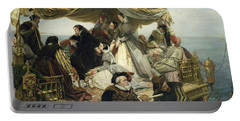 Mary Stuart's Farewell To France Portable Battery Charger by Henry Nelson O Neil