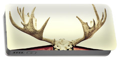 Moose Trophy Portable Battery Charger by Priska Wettstein