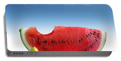 Pears And Melon Portable Battery Charger by Carlos Caetano
