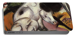 Pigs Portable Battery Charger by Franz Marc