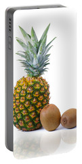 Pineapple And Kiwis Portable Battery Charger by Carlos Caetano