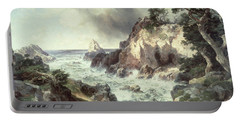 Point Lobos At Monterey In California Portable Battery Charger by Thomas Moran