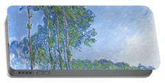 Poplars Portable Battery Charger by Claude Monet