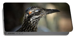Portrait Of A Roadrunner  Portable Battery Charger by Saija  Lehtonen