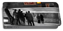 Prague Underground Station Stairs Portable Battery Charger by Stelios Kleanthous