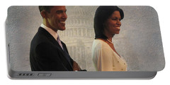 President Obama And First Lady Portable Battery Charger by David Dehner