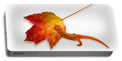 Red Spotted Newt Portable Battery Charger by Ron Jones