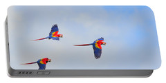 Scarlet Macaws Portable Battery Charger by Tony Beck