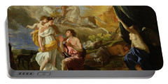 Selene And Endymion Portable Battery Charger by Nicolas Poussin