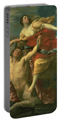 The Abduction Of Deianeira Portable Battery Charger by  Centaur Nessus