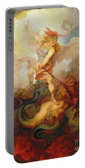 The Angel Binding Satan Portable Battery Charger by Philip James de Loutherbourg