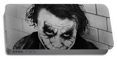 The Joker Portable Battery Charger by Carlos Velasquez Art
