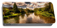 The River Exe At Bickleigh Portable Battery Charger by Rob Hawkins