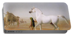 The Wellesley Grey Arabian Led Through The Desert Portable Battery Charger by Jacques-Laurent Agasse