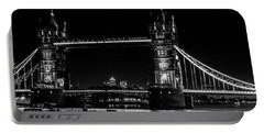 Tower Bridge And Barges Portable Battery Charger by Dawn OConnor