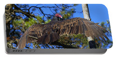 Turkey Vulture With Wings Spread Portable Battery Charger by Sharon Talson