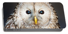 Ural Owl Portable Battery Charger by Tom Gowanlock