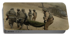 U.s. Army Soldiers Medically Evacuate Portable Battery Charger by Stocktrek Images