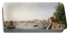 View Of The River Thames From The Adelphi Terrace  Portable Battery Charger by William James