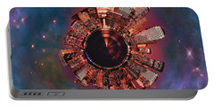 Wee Manhattan Planet Portable Battery Charger by Nikki Marie Smith