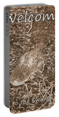 Welcome To The Swamp - Sepia Portable Battery Charger by Carol Groenen