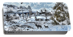 Winter Wonderland Portable Battery Charger by Lourry Legarde