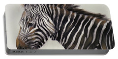 Zebra  Portable Battery Charger by Odile Kidd