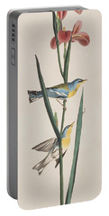 Blue Yellow-backed Warbler Portable Battery Charger by John James Audubon